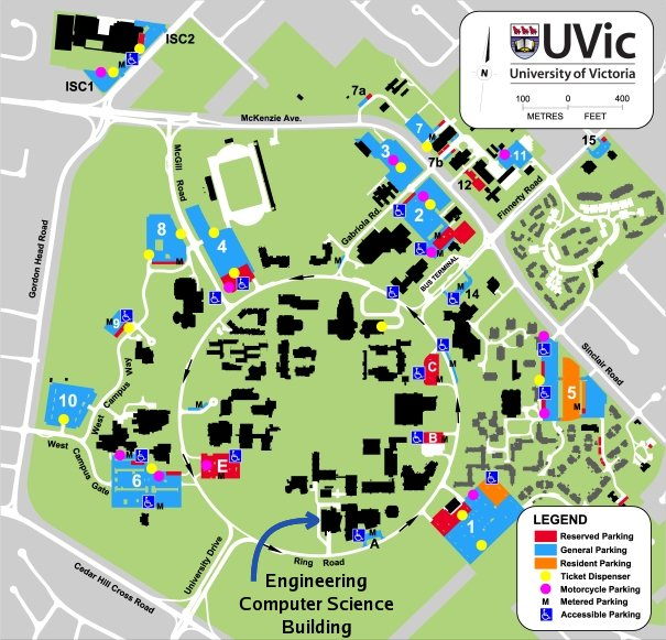 Map Of Uvic 2019 IEEE Pacific Rim Conference on Communications, Computers and